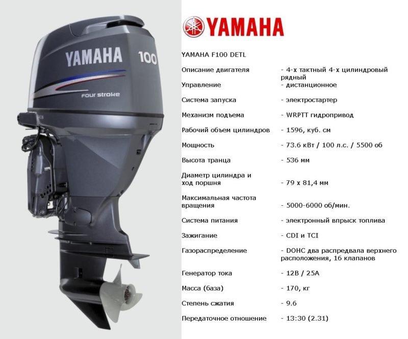 Лодочный мотор Yamaha F100DETL
